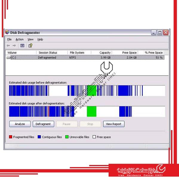 دیفرگ کردن لپ تاپ